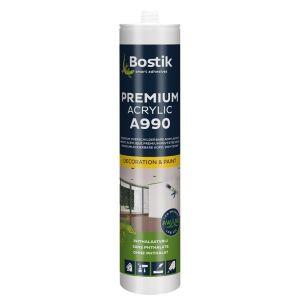 Bostik A990 Premium Acrylic acrylaatkit 310 ml wit - A51250160 - afbeelding 1