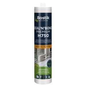 Bostik H750 Seal 'n' Bond Premium afdichtingslijm- en kit 290 ml grijs patroon - A51250155 - afbeelding 1