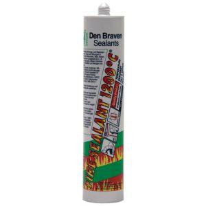 Zwaluw Fire Sealant 1200 graden C afdichtingskit hittebestending 310 ml zwart - A51250137 - afbeelding 1