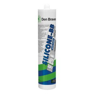 Zwaluw Siliconekit BB + Sanitary afdichtingskit azijnzuurhoudend 310 ml grijs - A51250130 - afbeelding 1