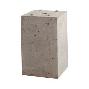 Maasland ZP betonpoer voor zuil Z-RVS 400x253x253 - Y11300702 - afbeelding 1