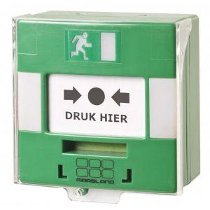 Maasland Security handmelder groen met LED en geluid - Y11300896 - afbeelding 1