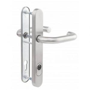 Maasland Security RVS deurbeslag kruk-kruk klasse 3 U vorm kerntrek - Y11300728 - afbeelding 1