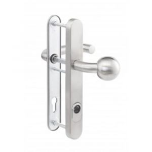 Maasland Security aluminium deurbeslag knop-kruk klasse 3 U vorm niet brandwerend - Y11300704 - afbeelding 1