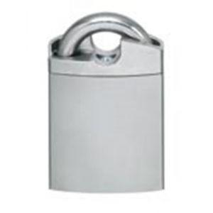 Evva 3KS keersleutel nieuw zilver hangslot met beugelbescherming 46 mm breed beugel 8 mm 15 mm hoog plan messing ver - Y22102566 - afbeelding 1