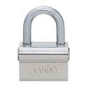 Evva ALS stiftsleutel conventioneel nieuw zilver hangslot 45 mm breed beugel 8 mm plan messing vernikkeld - Y22102580 - afbeelding 1