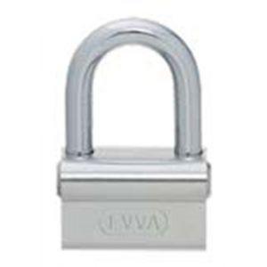 Evva ALS stiftsleutel conventioneel nieuw zilver hangslot 55 mm breed beugel 10 mm 40 mm hoog plan messing vernikkeld - Y22102581 - afbeelding 1