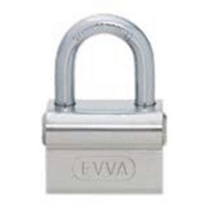 Evva TSC stiftsleutel conventioneel messing hangslot 45 mm breed beugel 8 mm verschillende sluitend messing vernikkeld - Y22102564 - afbeelding 1