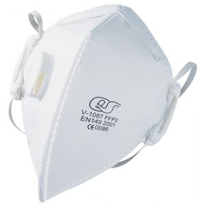 QS 878 stofmasker fijnstof FFP 2 vouwbaar met uitademventiel V-1087 - A50001818 - afbeelding 1