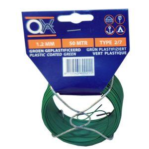 QX 884 draad geplastificeerd nummer 2/7 groen 50 m x 1.2 mm ijzer verzinkt - A50001805 - afbeelding 1