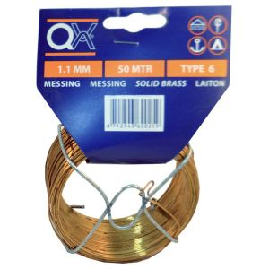 QX 883 draad nummer 3 50 m x 0.8 mm messing - A50001803 - afbeelding 1