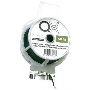QX Magic 885 draad geplastificeerd groen met snijmes 30 m ijzer verzinkt - A50001806 - afbeelding 1