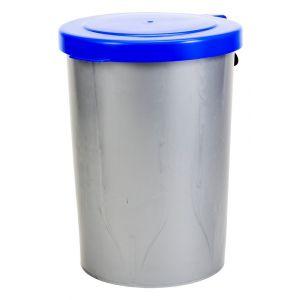 Berdal Gripline-A afvalcontainer kunststof 55 L grijs blauw deksel - A50200432 - afbeelding 1