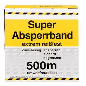Berdal Foliefol afzetband geel-zwart 80 mm x 500 m - A50200427 - afbeelding 1