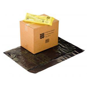 Berdal Foliefol huisvuilzakken KOMO 600x800 mm zwart - Y50200433 - afbeelding 1
