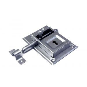 Dulimex DX KBG 070B opleg-grendelslot links en rechts bruikbaar met sluitbeugel 2 sleutels staal verzinkt - A30202004 - afbeelding 1