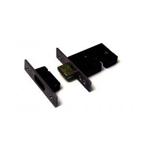 Dulimex DX DSKG 7000K ZE insteek-veiligheids-nachtschootslot voor Euro profielcilinder DX SKG** RVS voorplaat (sluitkom) en slotplaat met vierkante hoeken slotkast 1 stuk kopkaart - A30201958 - afbeelding 1