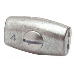 Dulimex DX 416-02E eivormklem 2 mm verzinkt - Y30200413 - afbeelding 1