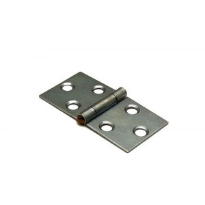 Dulimex DX H166-40802105 klepscharnier 40x80 mm vaste messing pen staal verzinkt - A30201721 - afbeelding 1