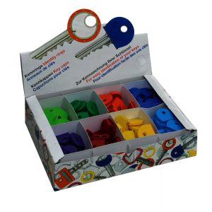Dulimex DX 996AS sleutelkap assortimentsdoos 8 kleuren 25 stuks - A30202045 - afbeelding 1
