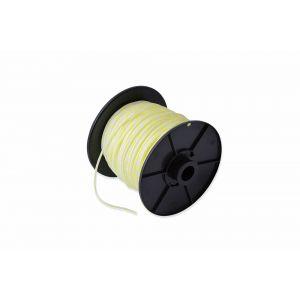 Dulimex DX PAS.030.W/G-C starterkoord gevlochten PA 3 mm wit-geel op rol 100 m - A30203245 - afbeelding 1