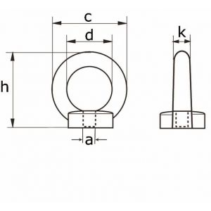 Dulimex DX 582-18E ringmoer type 582 M18 verzinkt - Y30200149 - afbeelding 2