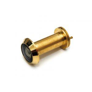 Dulimex DX DRS 2141 F30 deurspion 200 graden diameter 14 mm deurdikte 35-55 mm 30 min brandwerend met afsluitklepje massief messing gepolijst - A13003255 - afbeelding 1