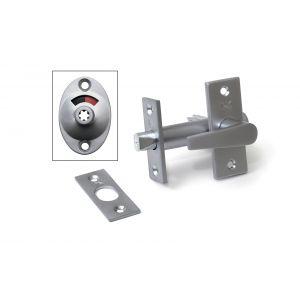 Dulimex DX DRB4050 SCP insteekgrendel met WC garnituur en sluitplaat 70/50 vernikkeld - A13002774 - afbeelding 1