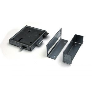 Dulimex DX UKS DS BB poortslot met dagschoot links en rechts bruikbaar doornmaat 60 mm deurkrukgarnituur met schild sluitplaat 2 bonte baardsleutels staal verzinkt - A13002499 - afbeelding 1