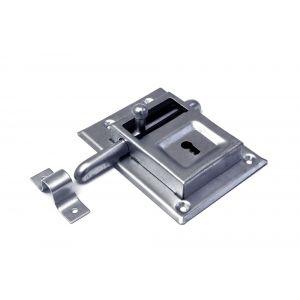 Dulimex DX KBG 070B opleg-grendelslot links en rechts bruikbaar met sluitbeugel 2 sleutels staal verzinkt - A13002493 - afbeelding 1