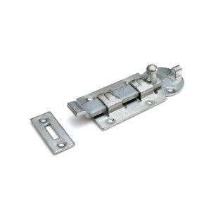 Dulimex DX ZRB 100BV rolschuif 44x100 mm schootdikte 4 mm met bocht staal verzinkt - A13003188 - afbeelding 1