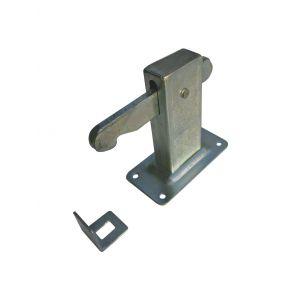 Dulimex DX DVZ HD V deurvastzetter Heavy Duty inclusief opvangoog vloermodel staal verzinkt - A13002726 - afbeelding 1