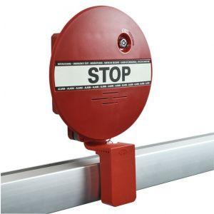 GfS DX 955 DEXCON voor paniekbalken inclusief verstelbaar hoekprofiel met veiligheidskoord 2x systeemsleutel 2x rode bovenplaten magneetfolie pictogram STOP 9 V batterij ingebouwde batterijbewaking EN 1125 95 dB - A13002995 - afbeelding 1