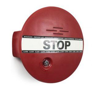 GfS DX 960 DEXCON voor deuren en ramen inclusief bekabeld deur reedcontact 2 m 2x systeemsleutel pictogram STOP 9 V batterij ingebouwde batterijbewaking EN 179 en 1125 95 dB - A13002996 - afbeelding 1