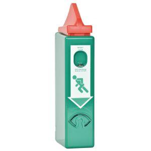 GFS DW 994 GFS EH-Exit control voor paniek stangen inclusief vooralarm stalen huis profielcilinder half 2 sleutels 9 V batterij pictogrammen en bevestigings materiaal EN 1125 95 dB - A13002988 - afbeelding 1