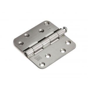 Dulimex DX H167E89892005 scharnier 3 mm doorgezette knoop ronde hoeken 89x89 mm losse verzinkte pen staal verzinkt - A13002181 - afbeelding 1
