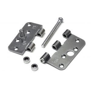 Dulimex DX H167C89892125 kogellagerscharnier 3 mm doorgezette knoop ronde hoeken 89x89 mm verzinkte pen staal verzinkt los gestort SKG*** - A13002230 - afbeelding 1