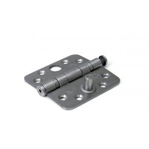 Dulimex DX H367-76762025 kogellagerscharnier ronde hoeken 76x76 mm RVS pen RVS geborsteld SKG** - A13002223 - afbeelding 1