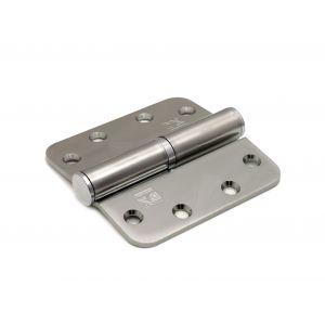 Dulimex DX H169-89890115 kogelstiftpaumelle ronde hoeken 89x89 mm links staal verzinkt - A13002344 - afbeelding 1