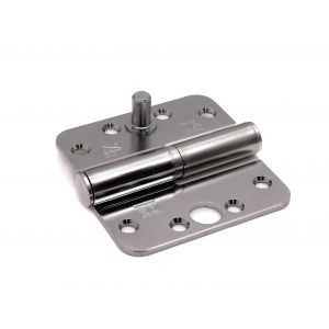 Dulimex DX H169D89892115 kogelstiftpaumelle ronde hoeken 89x89 mm doorgezette knoop links staal verzinkt SKG *** - A13002362 - afbeelding 1