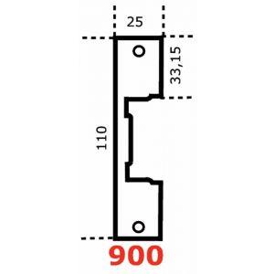 Jis ESPV 900 SS voorplaat JIS 900 RVS 110x25 mm links en rechts bruikbaar voor loop- en centraalsloten RVS - A13002590 - afbeelding 1