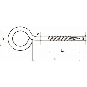Dulimex DX 391-0804E schroefoog houtdraad 2.20x8x4 mm verzinkt - A13000935 - afbeelding 1