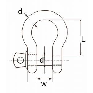 Dulimex DX HPS 05 IZL harpsluiting handelsuitvoering 5 mm RVS AISI 316 per stuk gelabeld - A13000349 - afbeelding 1