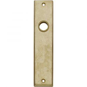 Intersteel 2568 renovatie kortschild sleutelgat 56 mm messing getrommeld 0011.256824 - A1203007 - afbeelding 1