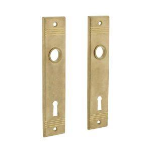 Intersteel 2570 renovatie kortschild groef sleutelgat 72 mm messing getrommeld 0011.257026 - A1203090 - afbeelding 1