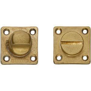 Intersteel Living 3183 WC-sluiting 8 mm vierkant messing getrommeld 0011.318360 - A1202900 - afbeelding 1