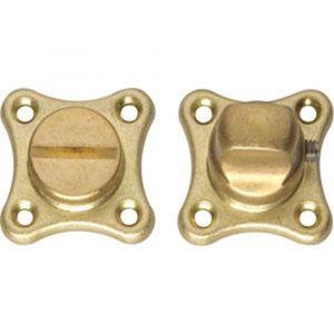 Intersteel 3189 WC-sluiting 8 mm klaverblad messing getrommeld 0011.318960 - A1202894 - afbeelding 1