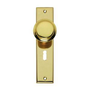 Intersteel Living 2569 renovatie knopkortschild sleutelgat 56 mm messing gelakt 0013.256924 - A1203356 - afbeelding 1