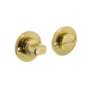 Intersteel 3185 WC-sluiting rozet rond plat 42 mm messing gelakt 0013.318560 - A1202902 - afbeelding 1