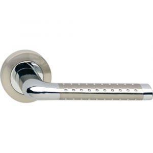 Intersteel 1684 deurkruk gatdeel links Marion op rond rozet 7 mm nokken chroom-nikkel mat 0016.168402B - A1201814 - afbeelding 1
